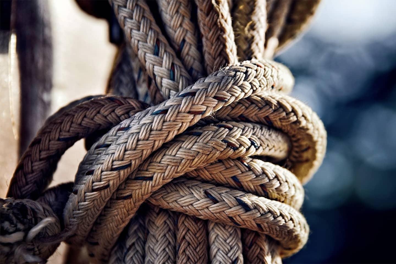 Corde en chanvre pour bateau résistant