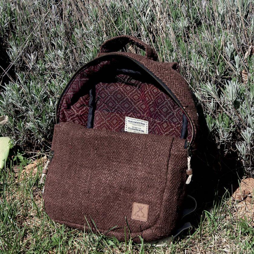 sac a dos ecolo avec teinture naturelle