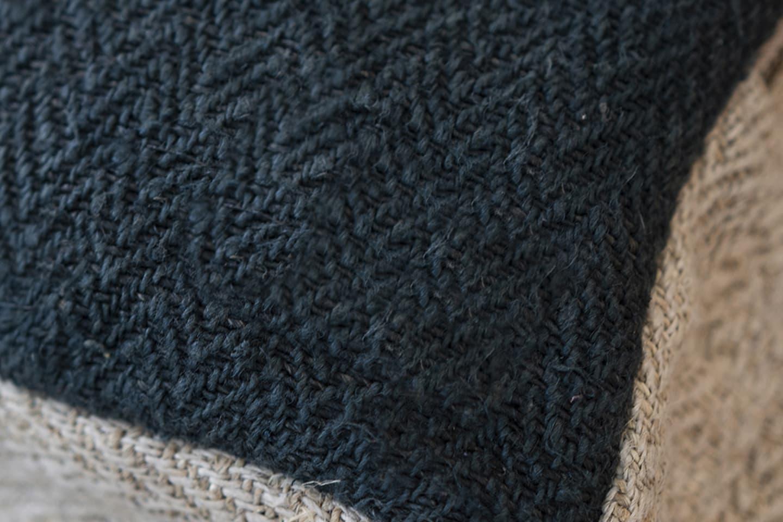 Zoom matière fibre de chanvre textile
