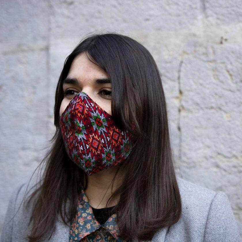 Masque réutilisable à motifs