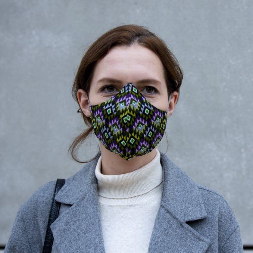 Masque coton réutilisable motifs