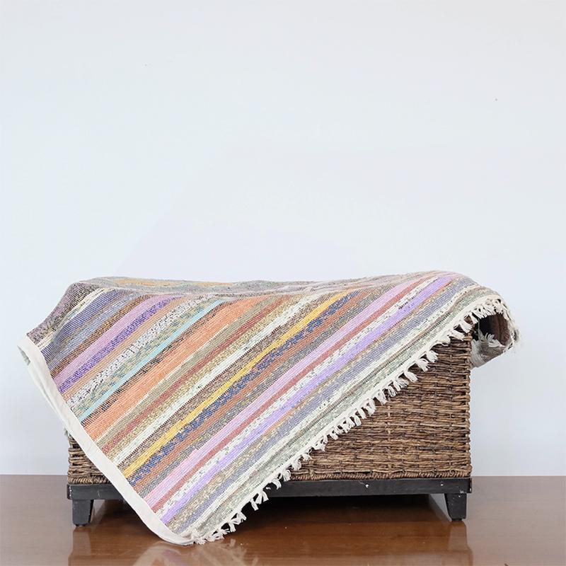 tapis de sol écologique décoratif en matières upcyclées